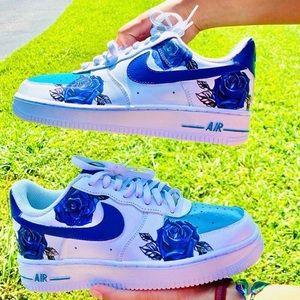 Women's Nike Air Force 1 Rose Printed Sneakers